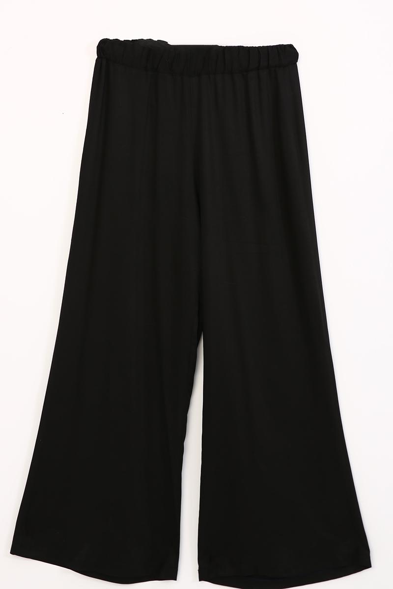 Kolu Kemerli Gizli Patlı Pantolonlu İkili Takım