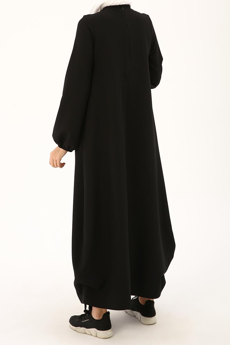 Yanları Bağcıklı Elbise