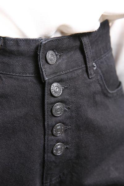 Yarece Düğme Detaylı Cepli Mom Pantolon