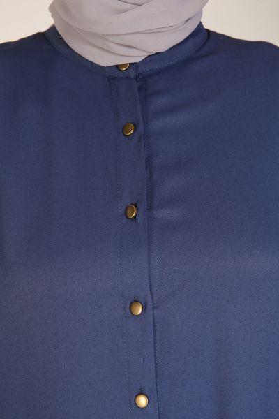 Yarece Düğmeli Tunik Pantolon İkili Takım
