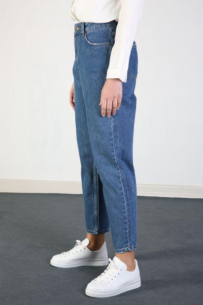 Yarece Yüksek Bel Mom Pantolon