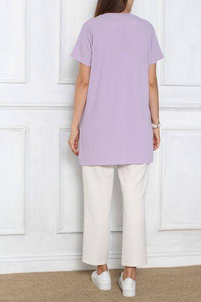 Yırtmaçlı Kısa Kol T-Shirt