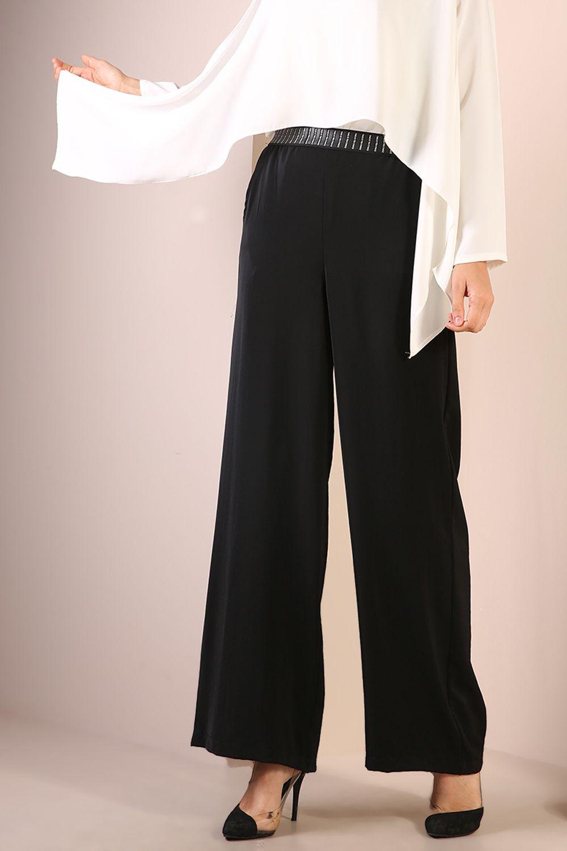 Yüksek Bel Bol Paça Salaş Pantolon
