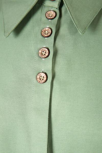 Yüksek Manşetli Düğmeli Gömlek Tunik