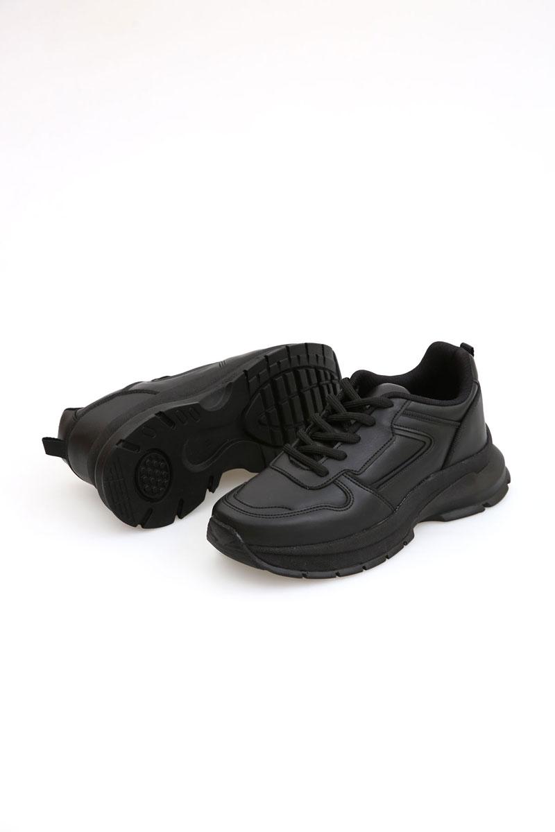 Yüksek Tabanlı Bağcıklı Spor Ayakkabı