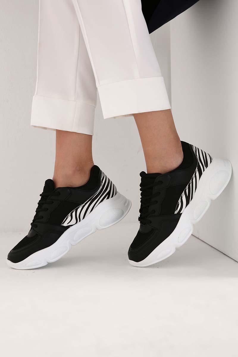 Zebra Desen Detaylı Spor Ayakkabı
