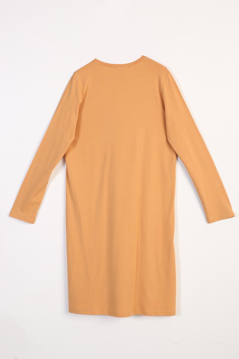 Zebra Varak Baskılı Uzun Kollu T-Shirt Tunik