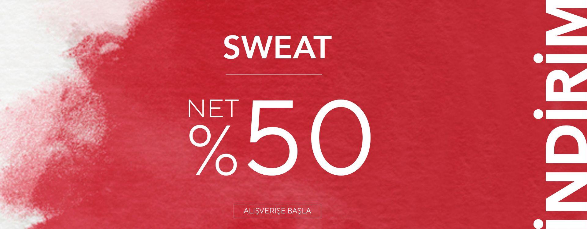 Sweatshirtlerde %50 İndirim