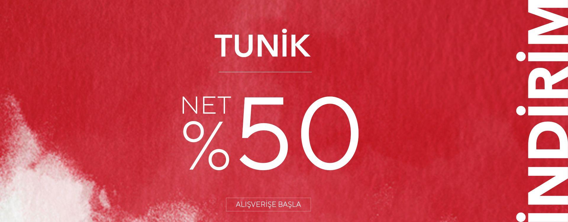 Tuniklerde %50 İndirim